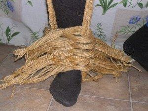 La fabrication des coussins d'attelage  ou pieumets 12